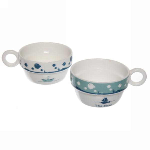 Чайный набор 3 предмета (чайник+2кружки) ″Морской″ купить оптом и в розницу
