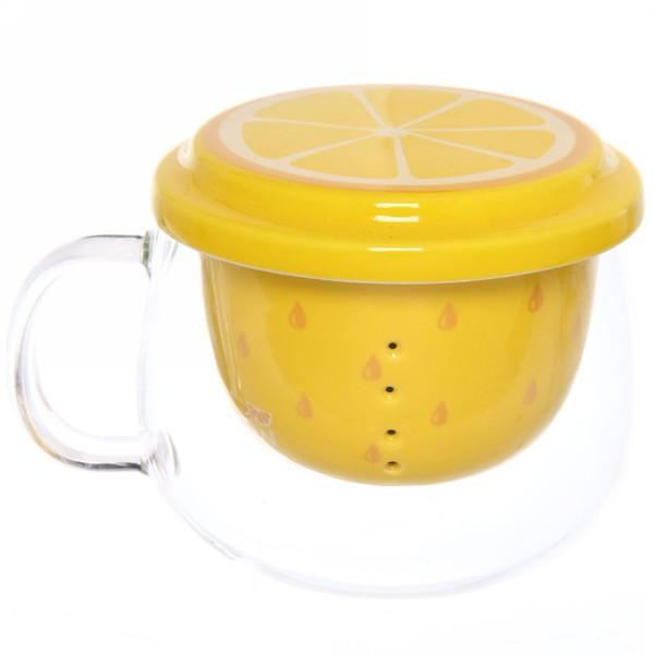 Кружка заварочная 270мл ″Лимон″ купить оптом и в розницу