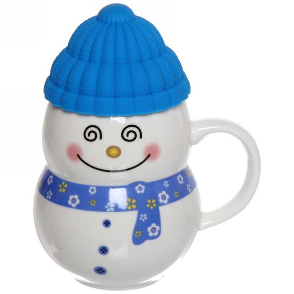 Кружка керамическая 300мл ″Снеговик в шапке″ купить оптом и в розницу