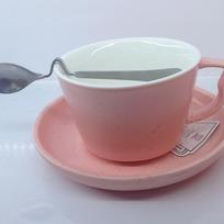 Чайная пара ″Зефир розовый″ (кружка 200мл,блюдце,ложка) KS5003 купить оптом и в розницу