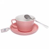 Чайная пара ″Зефир розовый″ (кружка 200мл,блюдце,ложка) купить оптом и в розницу
