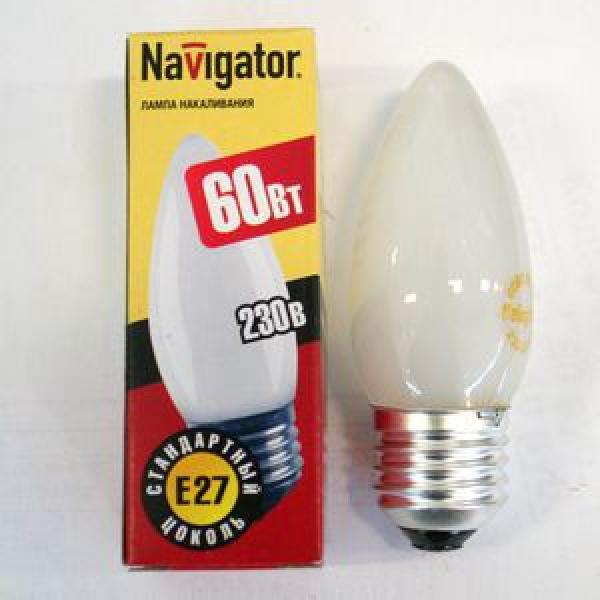 Лампа накаливания Navigator NI-В-60Вт-E27-230В-FR матов.свеча (10/100) купить оптом и в розницу
