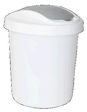 """Контейнер для мусора """"Ориджинал"""" 12 л белый * 8 купить оптом и в розницу"""