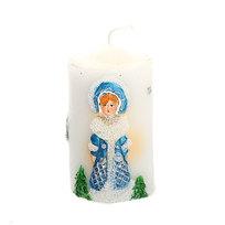 Свеча Новогодняя ″Дед Мороз и Снегурочка″, 9 см купить оптом и в розницу
