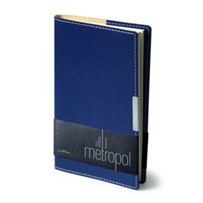Еженедельник б/дат А6 BV Metropol синий купить оптом и в розницу
