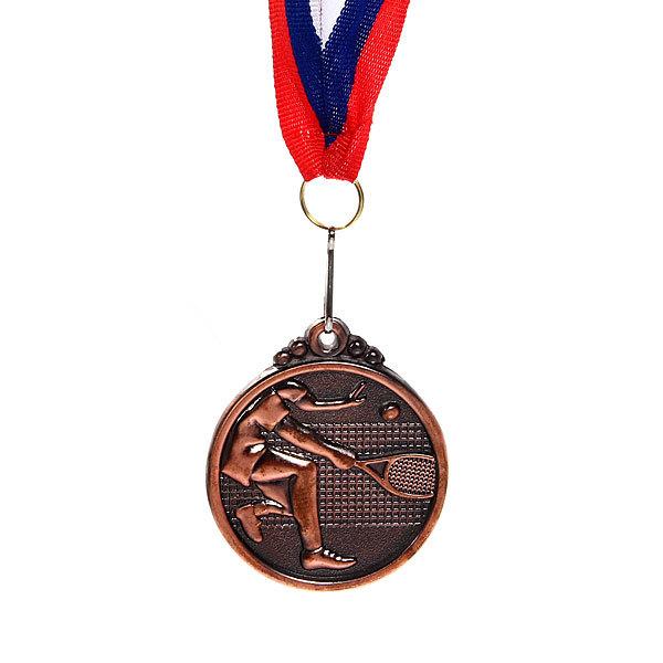 Медаль ″ Теннис ″- 3 место (4,5см) купить оптом и в розницу
