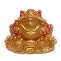 Копилка Жаба на деньгах (золото) 20*26*26 см. купить оптом и в розницу