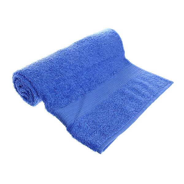 Махровое полотенце 70*140см голубое ЭК140 Д01 купить оптом и в розницу