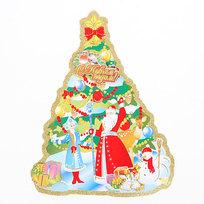 Плакат новогодний 42 см Елка купить оптом и в розницу