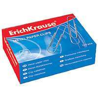 Скрепки  28 мм Erich Krause омедн. 100шт  к/у купить оптом и в розницу