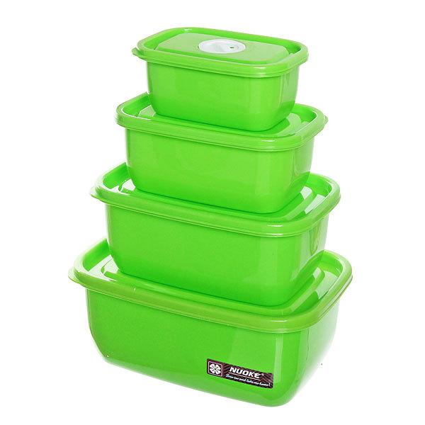 Набор контейнеров 4 шт ″Серпантин″ (0,3л,0,5л,0,8л,1,3л) Селфи купить оптом и в розницу