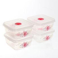 Набор контейнеров 4 шт ″Лилии″ (3х0,3л) 053 Селфи купить оптом и в розницу