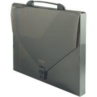 Папка-портфель на замке 900мк PROFF Next 35мм дымчатая полупрозрачная купить оптом и в розницу