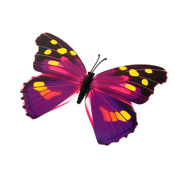Украшение декоративное 12см Бабочка на магните купить оптом и в розницу