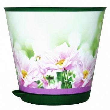Горшок для цветов Крит D 200 mm с системой прикорневого полива 3,6 л Хризантемы *12 купить оптом и в розницу