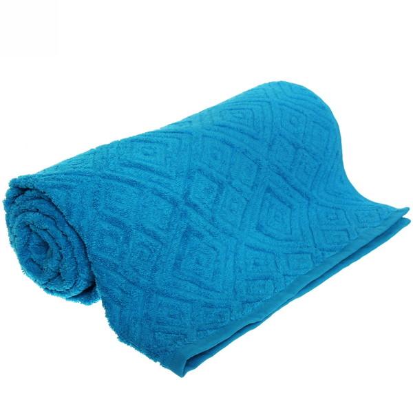 Махровое полотенце 70*140см средний синий жаккард ЖК140-2-008-013 купить оптом и в розницу