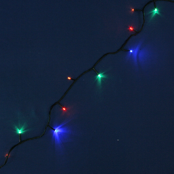 Гирлянда светодиодная 20м, 240 ламп LED, Мультицвет, 8 реж, зелен.пров. купить оптом и в розницу