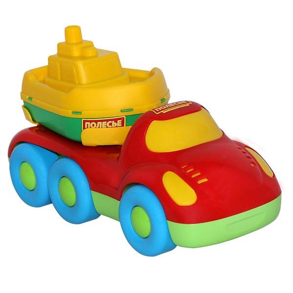 Автомобиль Дружок для перевозки кораблика+кораблик Буксир 48370 П-Е /9/ купить оптом и в розницу