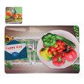 Набор салфеток на стол 42*27см 6+6шт Овощи СD-013 купить оптом и в розницу