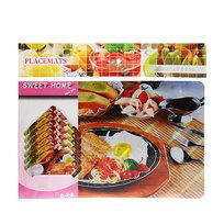 Набор салфеток на стол 42*27см 6+6шт Завтрак СD-014 купить оптом и в розницу
