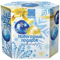Салют средний ″Новогодний подарок″ 1шт 12/1 (С052025) купить оптом и в розницу