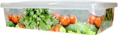 Емкость для продуктов Браво Овощи прямоугольная 1,35 л *40 купить оптом и в розницу