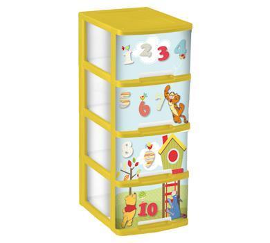 Этажерка с выдвижными ящиками 4 х 10 л купить оптом и в розницу