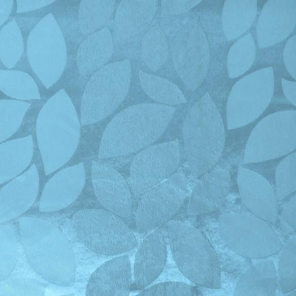 Штора затемняющая ″Листья″ голубая 145*275см/16/4 65013 купить оптом и в розницу