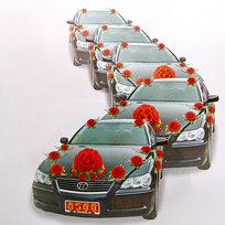 Свадебный аксессуар Комплект Украшения для машины А05373 купить оптом и в розницу