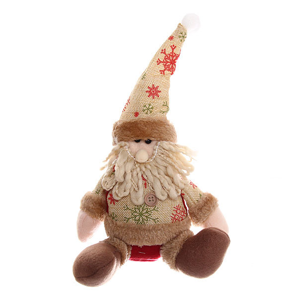Мягкая игрушка ″Дед Мороз в кофте со снежинками″ 23см купить оптом и в розницу