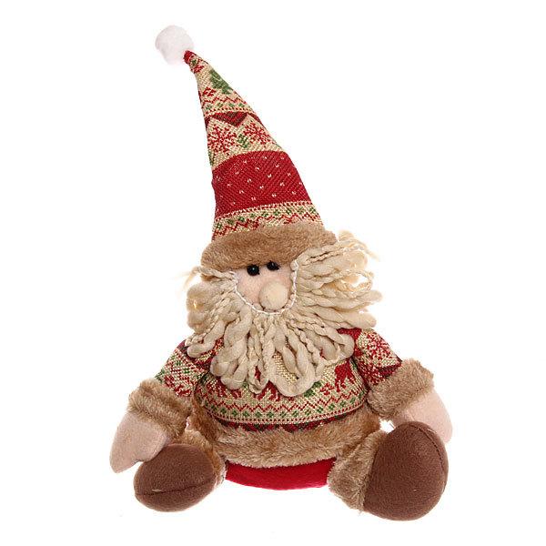 Мягкая игрушка ″Дед Мороз в кофте с оленями″ 21см купить оптом и в розницу