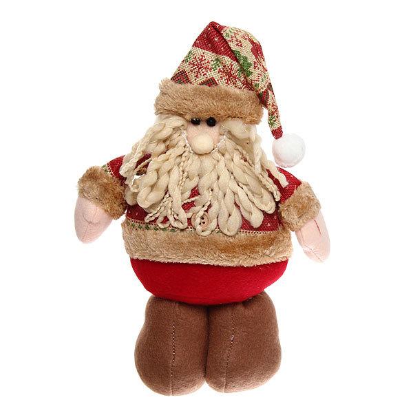 Мягкая игрушка ″Дед Мороз со снежинками″ 30см купить оптом и в розницу