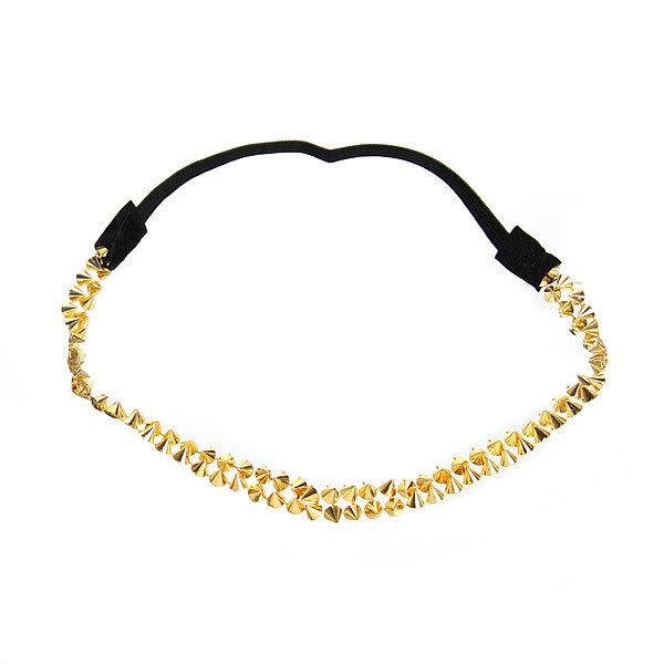 Резинка для создания греческой прически ″Шипы″, цвет золото купить оптом и в розницу