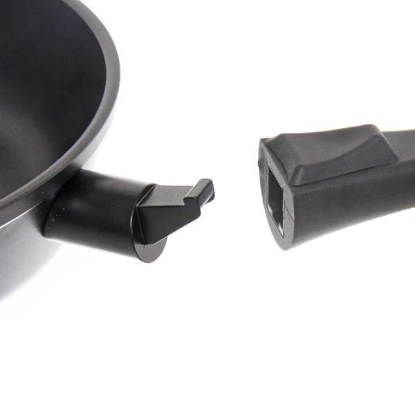 Сковорода ″GURMAN″ 24 см литой алюминий, съёмная ручка купить оптом и в розницу