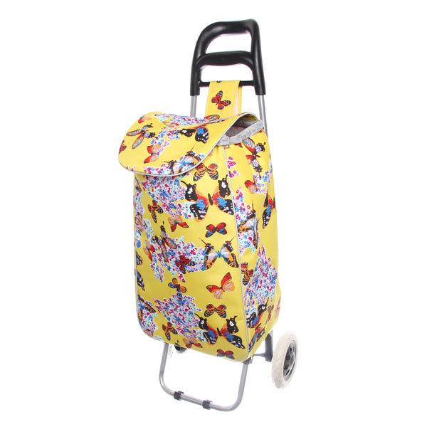 Тележка хозяйственная с сумкой 002F (90,5*37*56см, колеса 16см, грузоподъемность до 30 кг.) купить оптом и в розницу