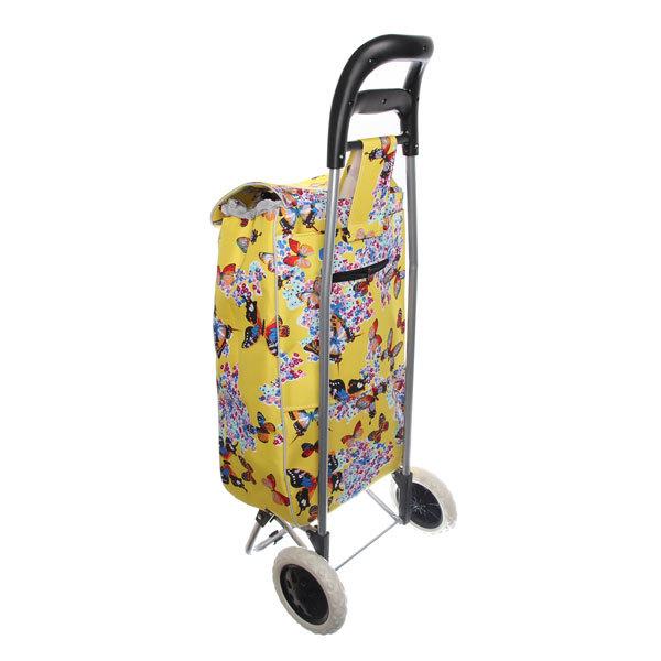 Тележка хозяйственная с сумкой (90,5*37*56см, колеса 16см, грузоподъемность до 30 кг.) 002F купить оптом и в розницу