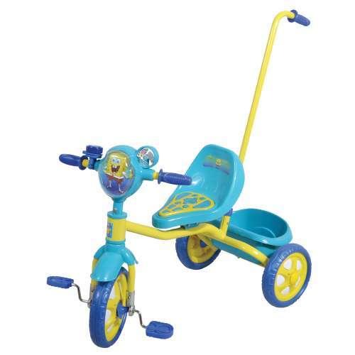 Велосипед 3-х Губка Боб Т57575 с ручкой купить оптом и в розницу