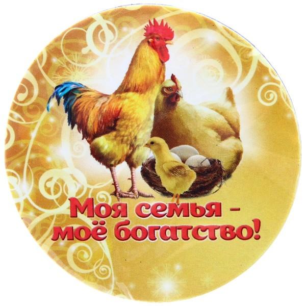 Магнит виниловый ″Моя семья - мое богатство!″, Куриное семейство купить оптом и в розницу