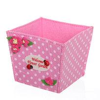 Войлочная корзинка ″Цветочный сад″ розовая 11*10*10 см купить оптом и в розницу