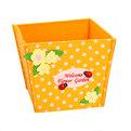 Войлочная корзинка ″Цветочный сад″ оранжевая 11*10*10 см купить оптом и в розницу