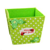 Войлочная корзинка ″Цветочный сад″, зеленая 11*10*10 см купить оптом и в розницу