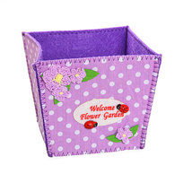 Войлочная корзинка ″Цветочный сад″ фиолетовая 11*10*10 см купить оптом и в розницу