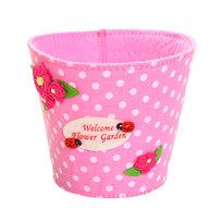 Войлочная корзинка ″Цветочный сад″ розовая 13*11 см купить оптом и в розницу