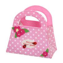Корзинка сумочка подарочная ″Цветочный сад″ 13*15 см розовый 02-8643А купить оптом и в розницу