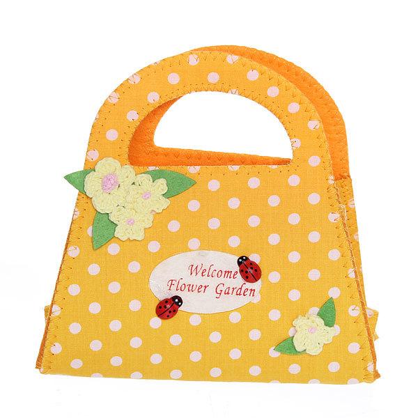 Корзинка сумочка подарочная ″Цветочный сад″ 13*15 см оранжевый 02-8643В купить оптом и в розницу