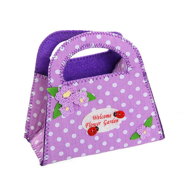Корзинка сумочка подарочная ″Цветочный сад″ 13*15 см фиолетовый купить оптом и в розницу