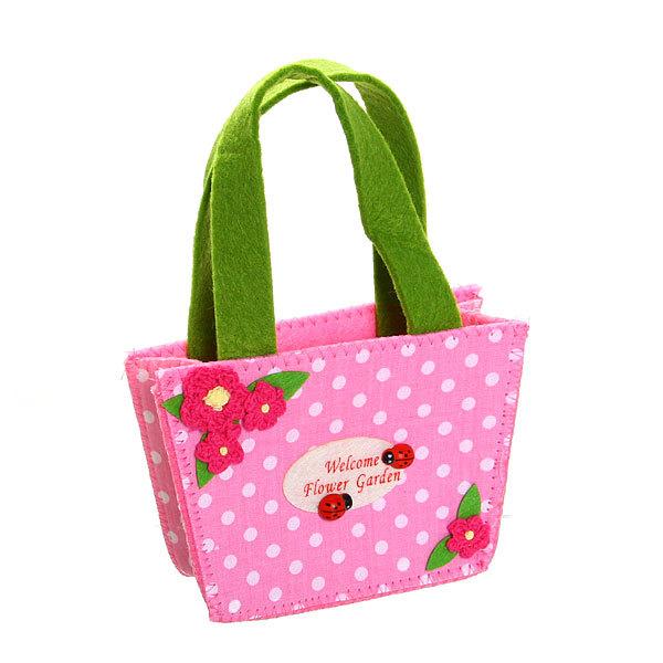 Корзинка сумочка подарочная ″Цветочный сад″ 13*9*6 см розовый 02-8644А купить оптом и в розницу