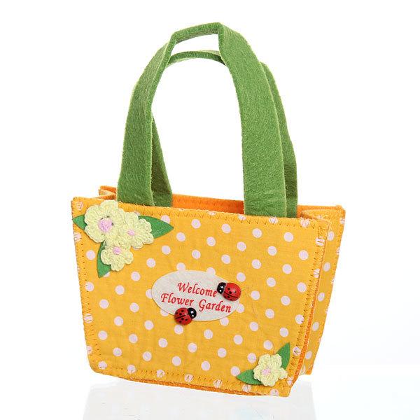 Корзинка сумочка подарочная ″Цветочный сад″ 13*9*6 см оранжевый купить оптом и в розницу