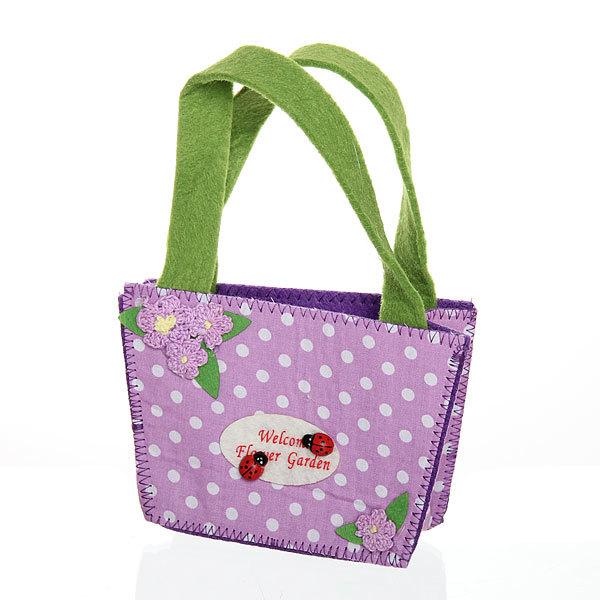 Корзинка сумочка подарочная ″Цветочный сад″ 13*9*6 см фиолетовый купить оптом и в розницу