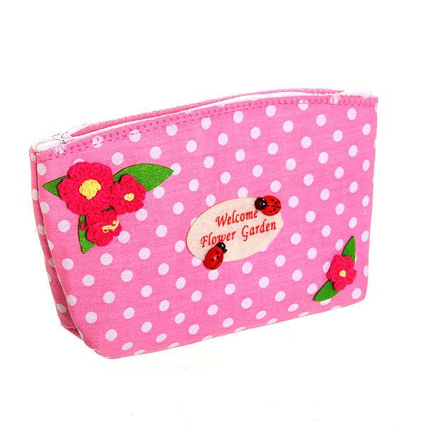 Корзинка сумочка подарочная ″Цветочный сад″ 17*10*5 см розовый купить оптом и в розницу